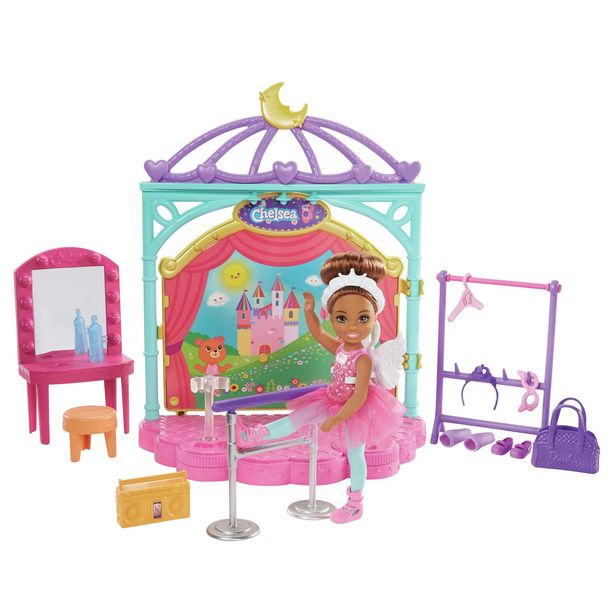 Barbie Club Chelsea Doll and Ballet Playset offer at £17