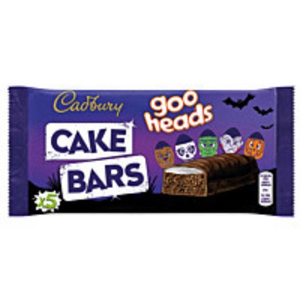 Cadbury Goo Heads Cake Bars 5pk offer at £1