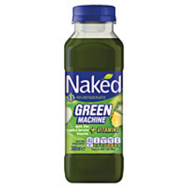 Naked Green Machine Apple And Kiwi Smoothie 360ml offer at £1.25