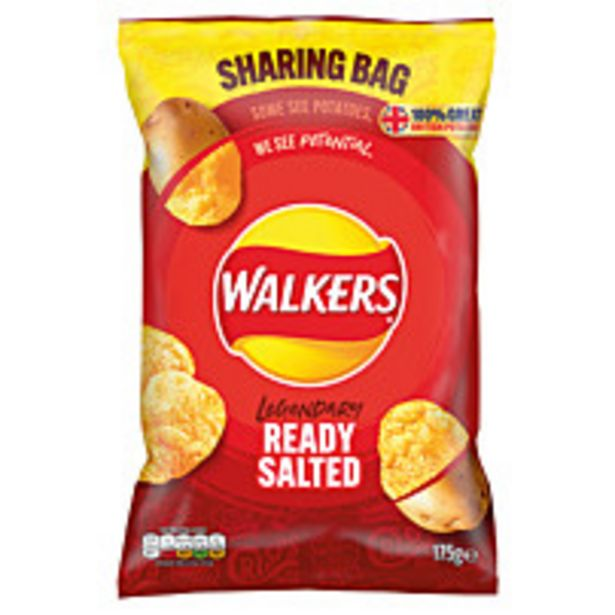 Walkers Sharing Bag Ready Salted 175g offer at £1