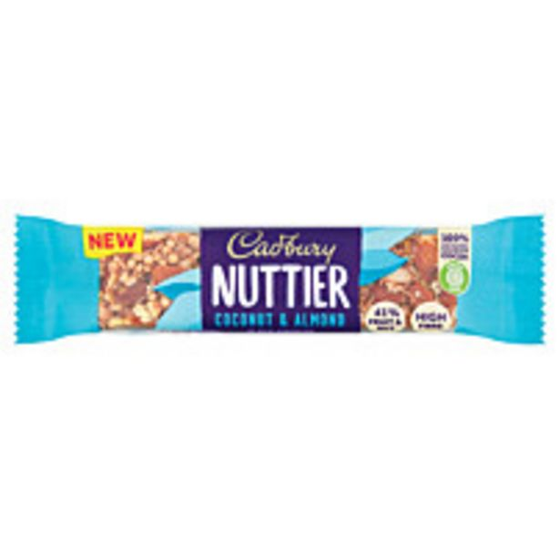 Cadbury Nuttier Coconut And Almond Chocolate Bar 40g offer at £1