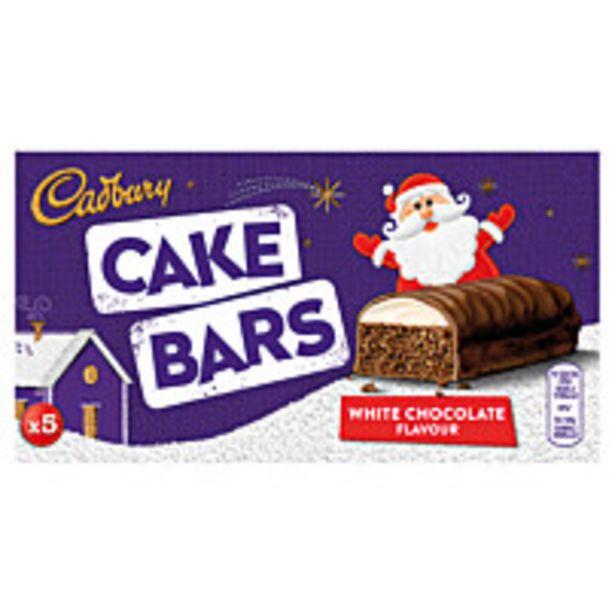 Cadbury White Chocolate Festive Cake Bars 5pk offer at £1