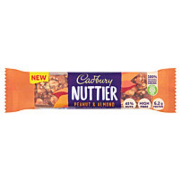Cadbury Nuttier Peanut And Almond Chocolate Bar 40g offer at £1