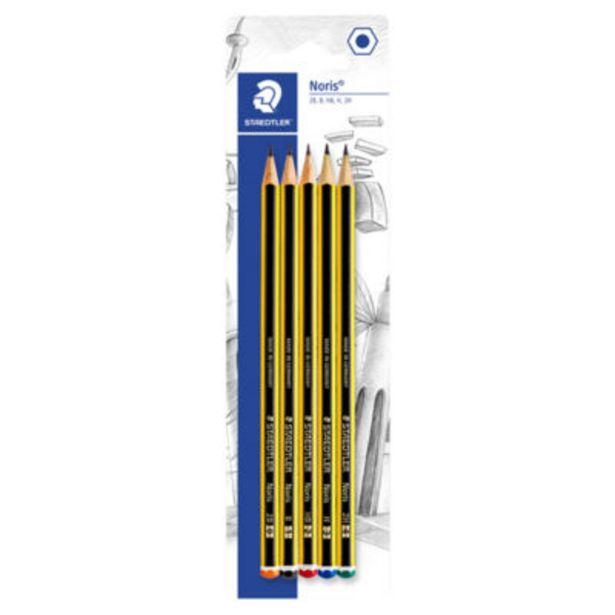 Noris Graded Pencils 5 Pack offer at £1.75