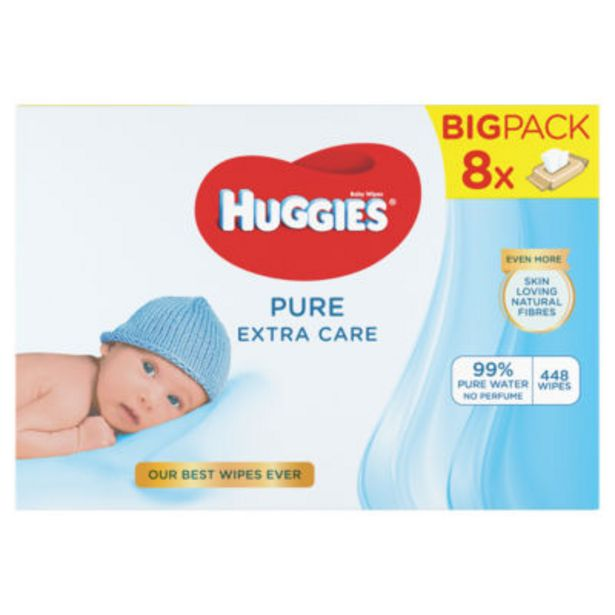 Pure 'Extra Care' Baby Wipes Wicker Basket 8 Packs offer at £8