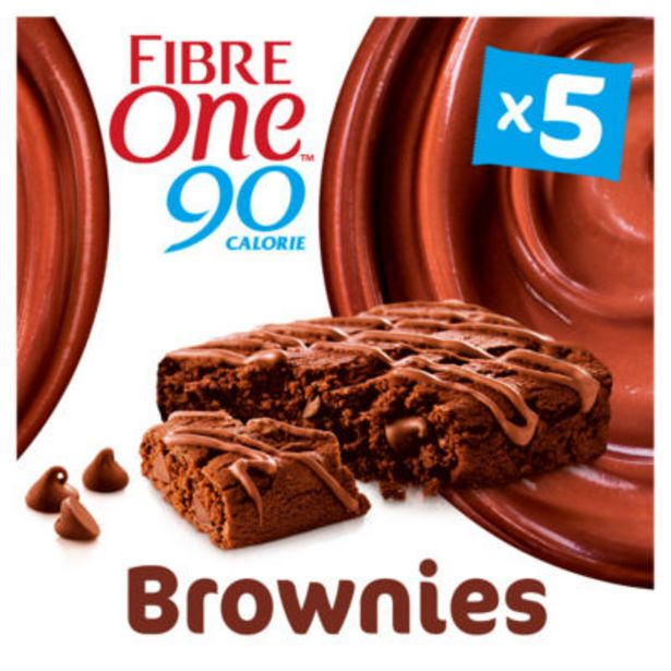 90 Calorie Chocolate Fudge Brownie Squares 5 Pack offer at £1.5