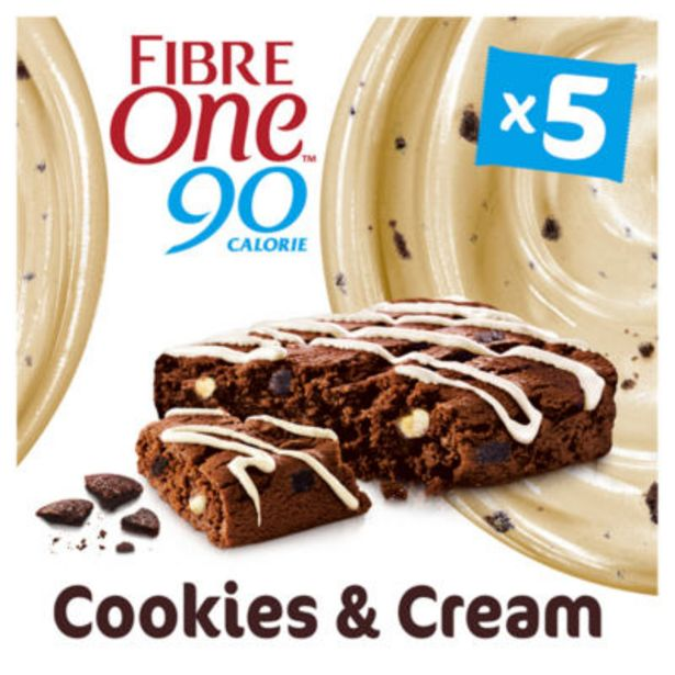 90 Calorie Cookies & Cream Drizzle Squares offer at £1.5