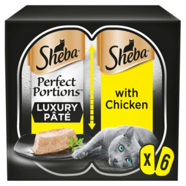 Perfect Portions Adult Wet Cat Food Trays Chicken in Pate offer at £1.5