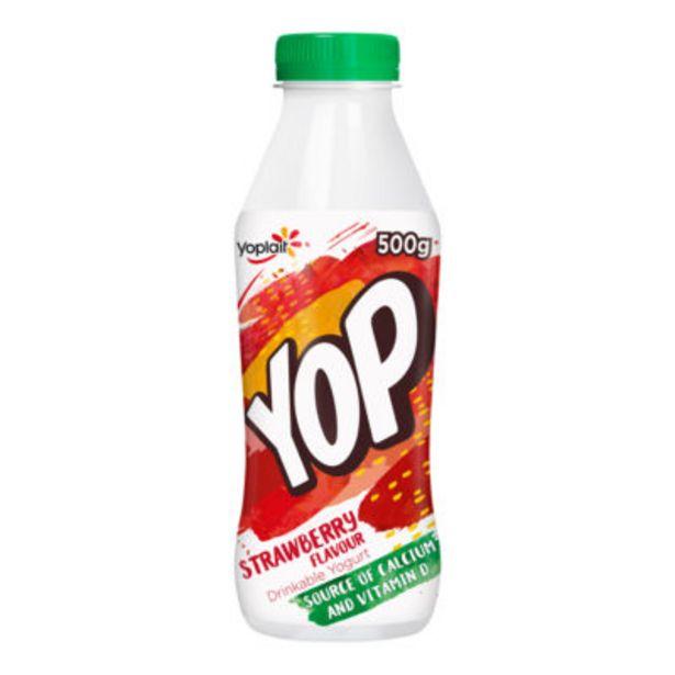 Yop Strawberry Flavour Yogurt Drink offer at £0.5