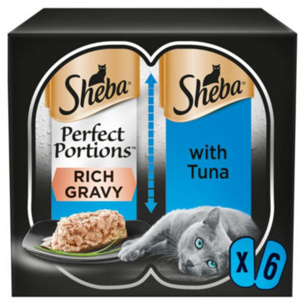 Wet Cat Perfect Portions with Tuna Chunks in Gravy offer at £1.5