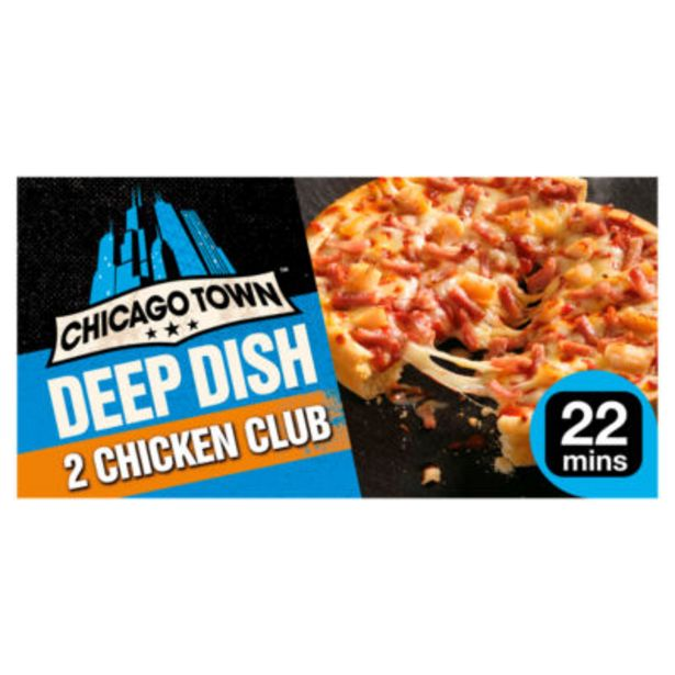 2 Deep Dish Chicken Club Pizzas offer at £1