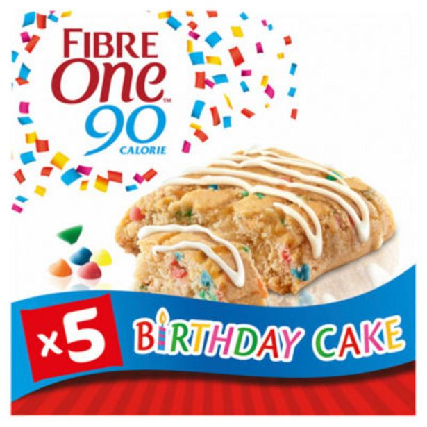 90 Calorie Birthday Cake Squares 5 Pack offer at £1.5