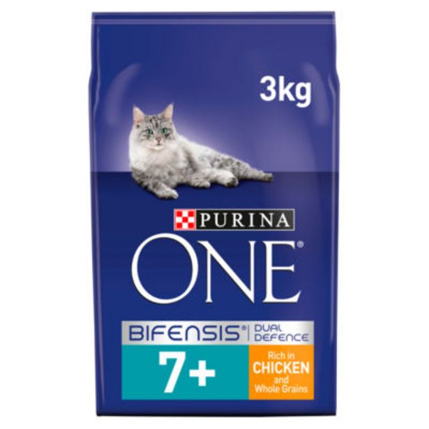 Senior 7+ Dry Cat Food with Chicken & Whole Grains offer at £11