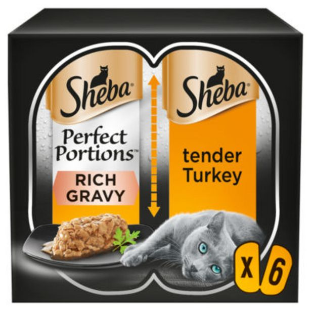 Wet Cat Perfect Portions with Turkey Chunks in Gravy offer at £1.5