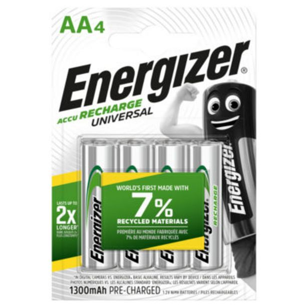 Recharge Universal AA Rechargeable Batteries offer at £9