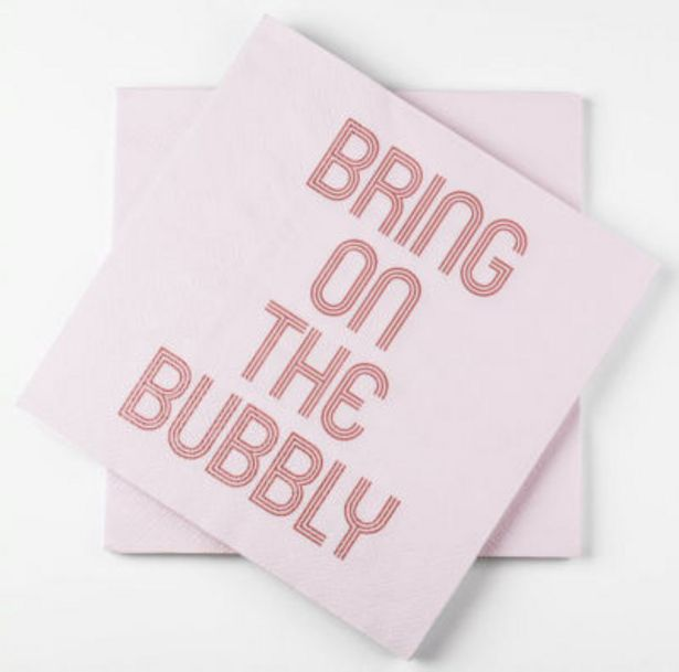 Bubbly Napkins offer at £0.5