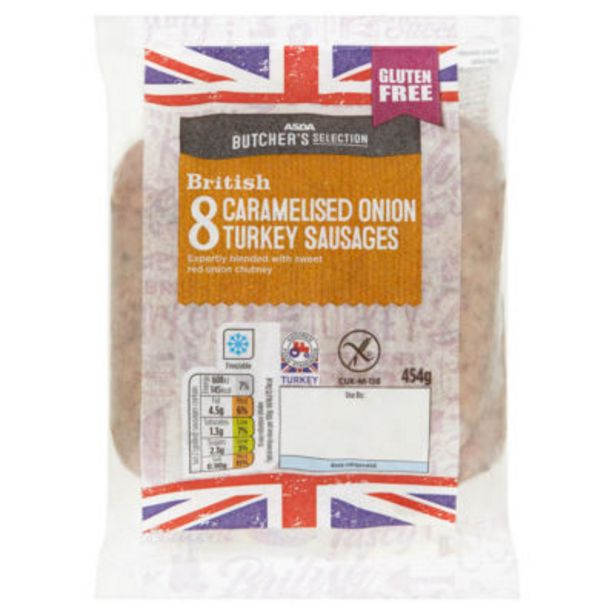 Caramelised Onion Turkey Sausages offer at £2.39