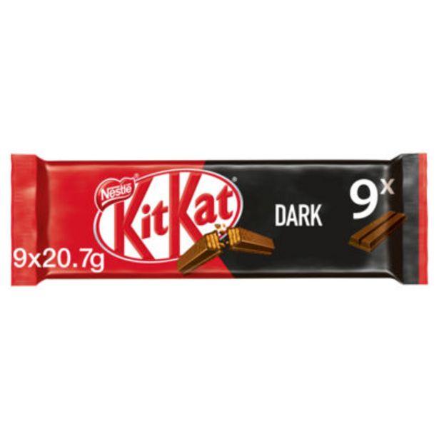 2 Finger Dark Chocolate Biscuit Bars Multipack offer at £1
