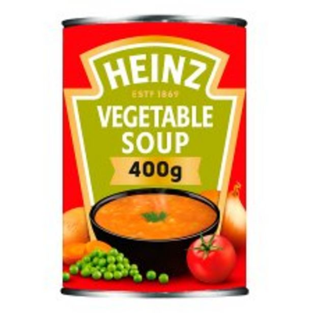 Heinz Vegetable Soup 400G offer at £0.95