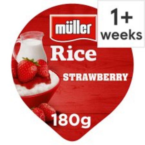 Muller Rice Strawberry Dessert 180G offer at £0.6