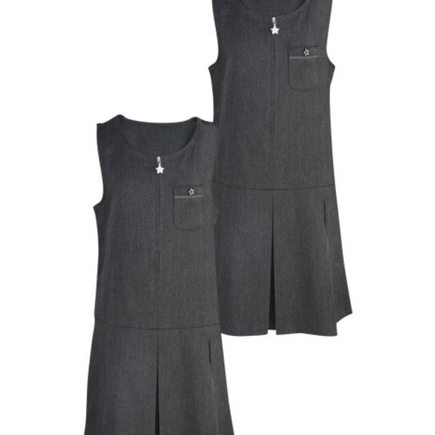 Grey Pleated Pinafore 2 Pack offer at £5.99