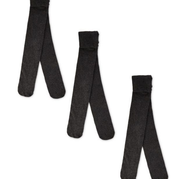 Girl's Grey Tights 3 Pack offer at £3.99