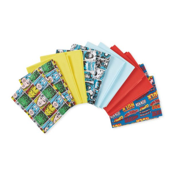 Marvel Fabric Fat Quarters 12 Pack offer at £11.99