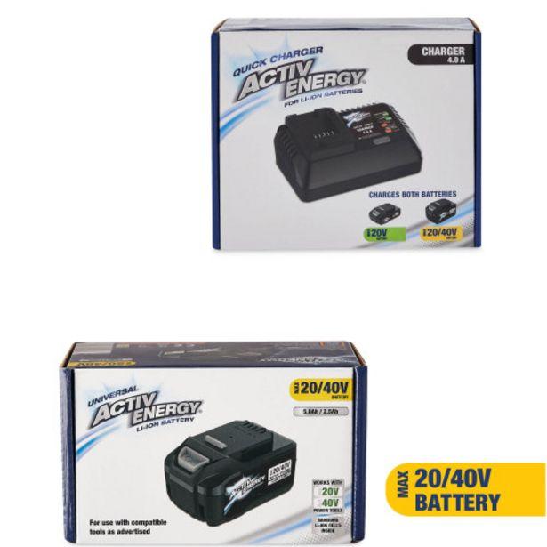 Activ Energy 40V Battery & Charger offer at £45