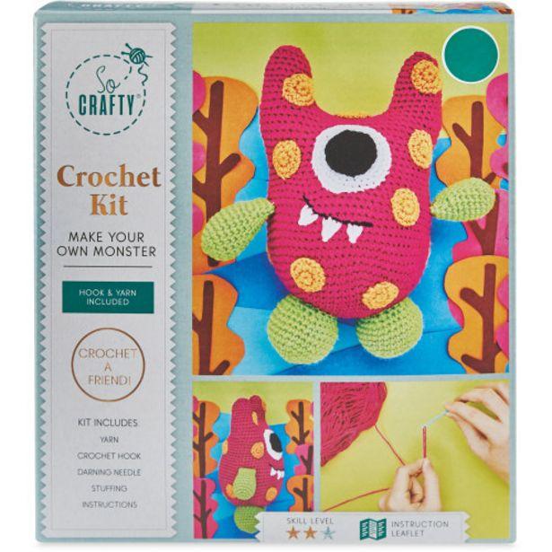Pink Spotted Monster Crochet Kit offer at £2.99