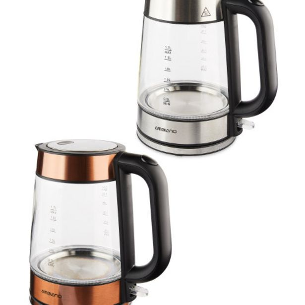 Ambiano Glass Kettle 1.7L offer at £19.99
