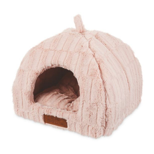 Pink Plush Cat Igloo Bed offer at £9.99