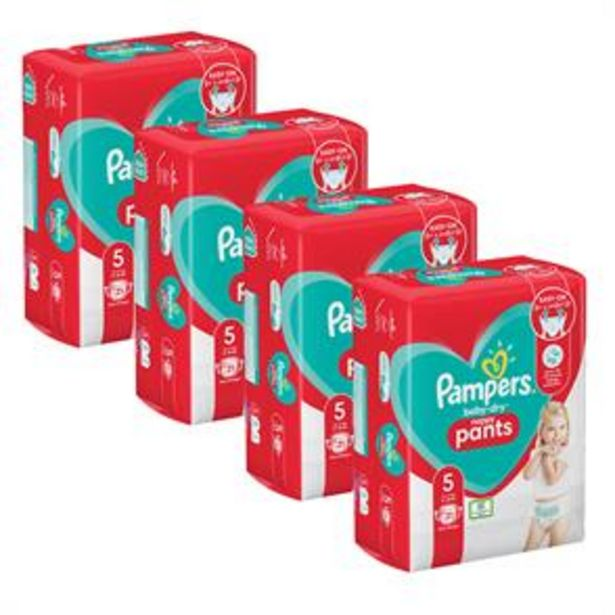 Pampers Baby-Dry Nappy Pants Size 5 (4 x 21 Nappies) offer at £14.76