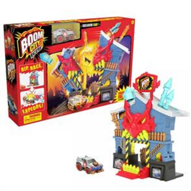 Boom City Racers: Fireworks Factory Playset offer at £9.99