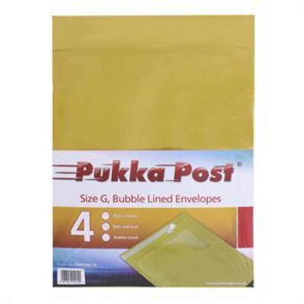 100 Pukka Post Bubble Lined Envelopes - Size G offer at £24.75