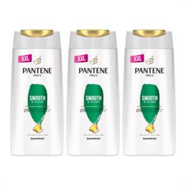 Pantene Pro-V Smooth & Sleek Shampoo (3 x 700ml) offer at £10.47