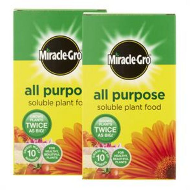 Miracle-Gro All Purpose Soluble Plant Food (2 x 1kg) offer at £8.98