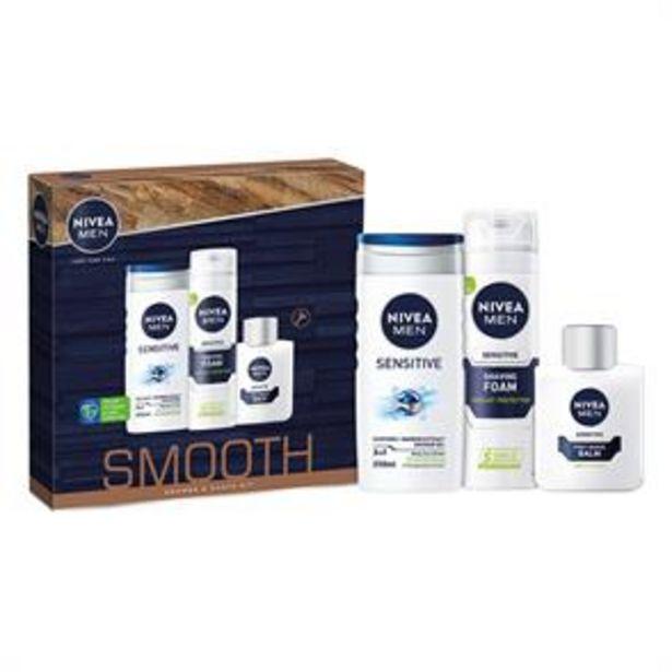 Nivea Men: Smooth Shower & Shave Kit Gift Set offer at £4.49