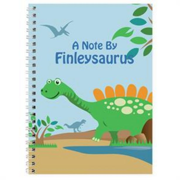 Personalised Dinosaur A5 Notebook offer at £3.99