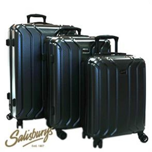 Salisburys: Hard Shell Suitcase - Black offer at £24.99
