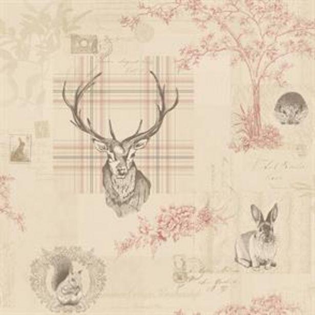 Richmond Cranberry/Linen Wallpaper offer at £11.99