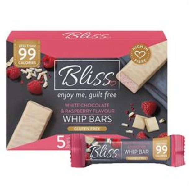 Bliss Whip: White Chocolate & Raspberry - 5 Bars (20x) offer at £19.8