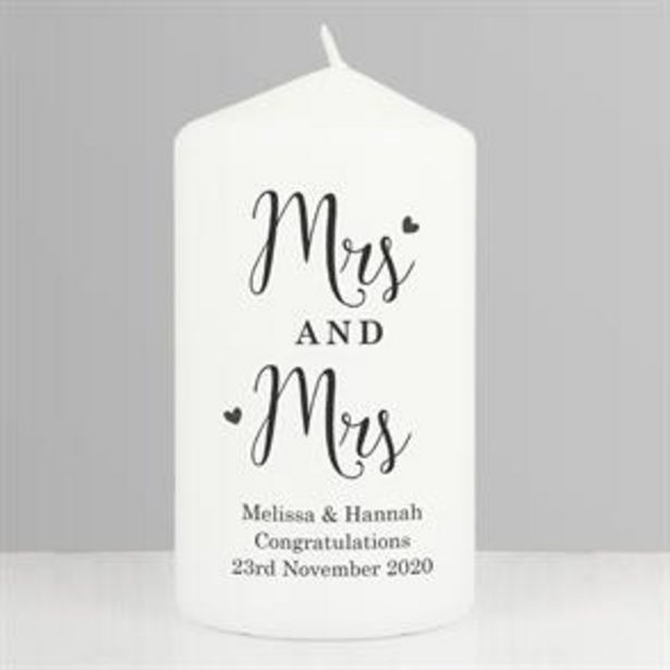 Personalised Married Couple Pillar Candle offer at £6.99