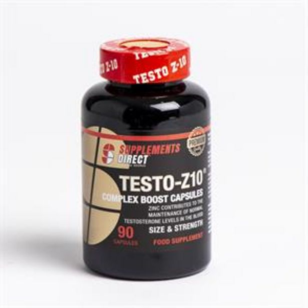 Supplements Direct Testo-Z10 Complex Boost - 90 Capsules offer at £4.99