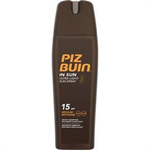 Piz Buin: Ultra Light Sun Spray 200ml - SPF 15 offer at £4.99