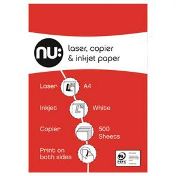 Nu: Laser, Copier & Inkjet Paper A4 500 Sheets (Case of 5) offer at £14.95