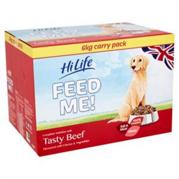 Hi Life: FEED ME! Complete Nutrition with Tasty Beef 6kg offer at £9.5