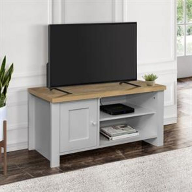 Birlea Highgate Small TV Unit Grey & Oak Effect offer at £79.99