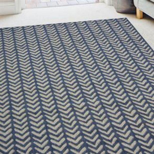 Navy Herringbone Indoor/Outdoor Rug offer at £17.99