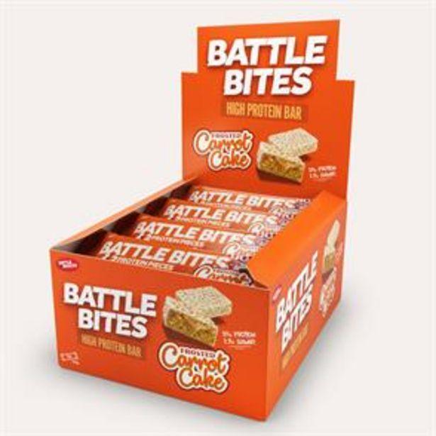 Battle Bites High Protein Bar - Carrot Cake (12 x 62g) offer at £14.28
