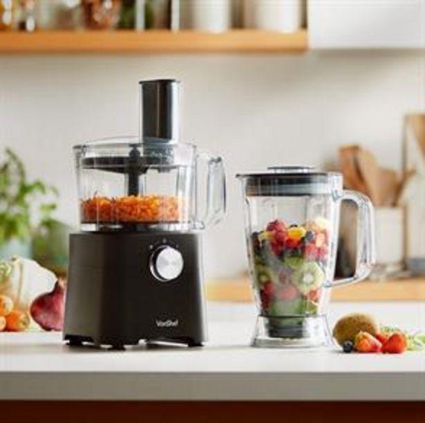 VonShef 750W Black Food Processor offer at £59.99